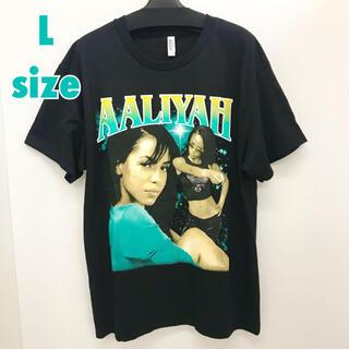 アリーヤ  Lサイズ ラップTシャツ Rap Tee AALIYAH(Tシャツ/カットソー(半袖/袖なし))