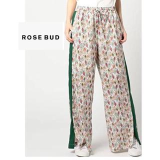 ローズバッド(ROSE BUD)のローズバッド*サイドラインペイズリー柄ワイドパンツ(カジュアルパンツ)