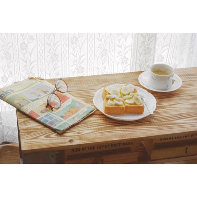 ハンドメイド テーブル スモーキーブルー インテリア/住まい/日用品の机/テーブル(ローテーブル)の商品写真
