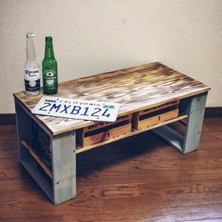 ハンドメイド テーブル スモーキーブルー(ローテーブル)