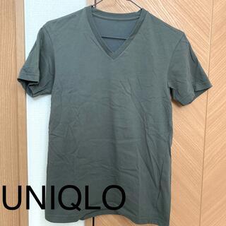 ユニクロ(UNIQLO)の新品同様☆ UNIQLO VネックTシャツ(Tシャツ(半袖/袖なし))