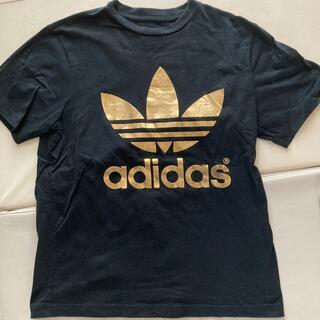 adidas - アディダス ゴールドプリントTシャツ
