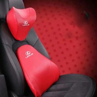 レクサス エンブレム クッション 低反発枕 ヘッドレスト革の車の腰椎クッショ