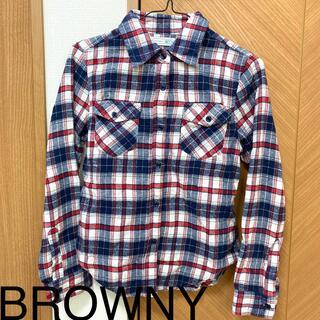 ブラウニー(BROWNY)のBROWNY チェックネルシャツ(シャツ/ブラウス(長袖/七分))