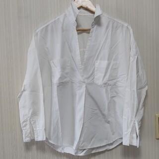 GU - GU ジーユー シャツ 白シャツ スキッパー