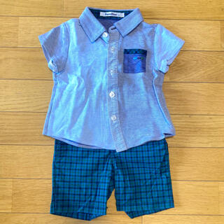 familiar - Familiar ポロシャツ 半ズボン セット 80