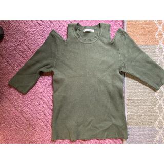 レディアゼル(REDYAZEL)のレディアゼル ニット 肩あき 五分袖(ニット/セーター)