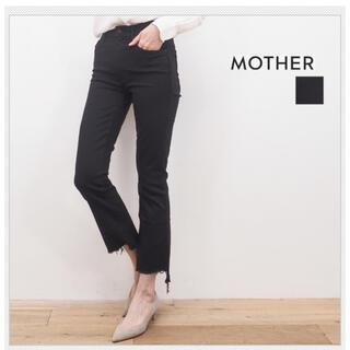 マザー(mother)のマザーデニム インサイダークロップデニム  ブラック25サイズ(デニム/ジーンズ)