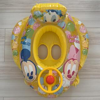 ディズニー(Disney)のディズニー ミッキー ミニー 足入れ浮き輪 幼児 女の子 男の子 ハンドル付き(マリン/スイミング)