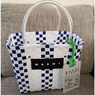 Marni - マルニ カゴバッグ ホワイト 紺
