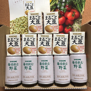 カゴメ(KAGOME)のカゴメ  毎日飲む野菜5本 & まるごと大豆7パック(ソフトドリンク)