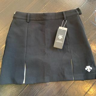 DESCENTE - デサント プリーツ スカート ブラックS