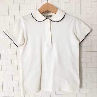 familiar - お受験・習い事に!マムエモア 丸襟縁取りポロシャツ 120cm
