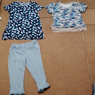 キュービーシー(q.b.c)のアンドラブカットソー2点とパンツセット!(Tシャツ(半袖/袖なし))