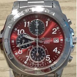 セイコー(SEIKO)の【稼働品】SEIKO セイコー クロノグラフ メンズ腕時計 7T92-0CA0(腕時計(アナログ))