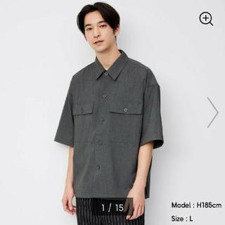 GU - ダブルポケットワイドフィットシャツ