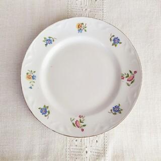 アラビア(ARABIA)のold arabia ❀ decorated リム plate (c)(食器)