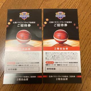 ドラゴンフライズ チケット 2枚(バスケットボール)