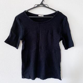 ジーユー(GU)の半袖Tシャツ*ブラック(Tシャツ(半袖/袖なし))
