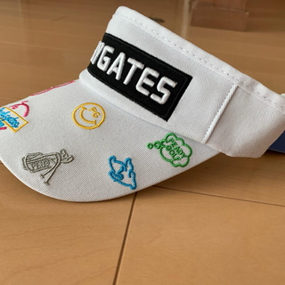 PEARLY GATES - ☆新品☆ パーリーゲイツ ゴルフ サンバイザー 白 カラフル 男女兼用