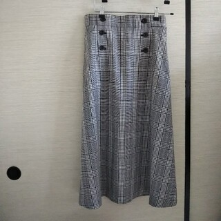 オペークドットクリップ(OPAQUE.CLIP)のOPAQUE.CLIP ワールド 春夏 秋冬チェックロングスカート 40 L(ロングスカート)