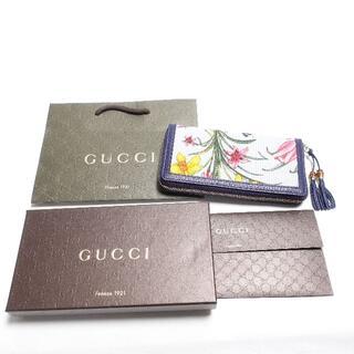 Gucci - Gucci 長財布 レディース ブルー/花柄