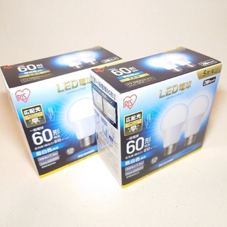 アイリスオーヤマ(アイリスオーヤマ)のLED 電球 60形 2個セット✕2箱(蛍光灯/電球)