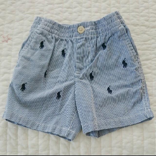 Ralph Lauren(ラルフローレン)の【専用】ラルフローレン ハーフパンツ 12M 80  半ズボン  ストライプ キッズ/ベビー/マタニティのベビー服(~85cm)(パンツ)の商品写真