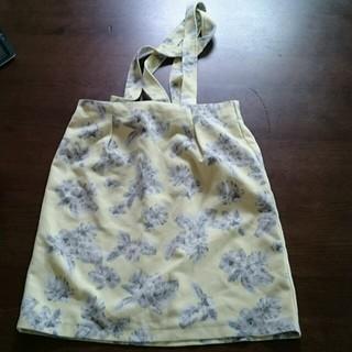 ディップドロップス(Dip Drops)の花柄タイトスカート サロペット(ひざ丈スカート)