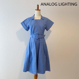 アナログライティング(analog lighting)の《タグ付き未使用》ANALOG LIGHTING ウエストベルトワンピース S(ひざ丈ワンピース)