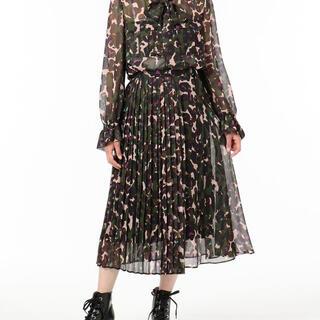 GRACE CONTINENTAL - シフォンプリントプリーツスカート