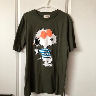 ピーナッツ(PEANUTS)のスヌーピー Tシャツ*カーキ*(Tシャツ(半袖/袖なし))