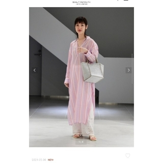 BEAUTY&YOUTH UNITED ARROWS - ヌキテパ 2021SS ストライプワンピース