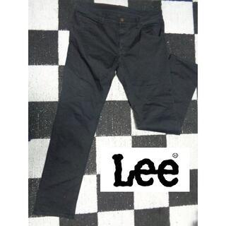 リー(Lee)の【LEE リー】XLブラックチノパンコットンパンツデニムGパン(チノパン)