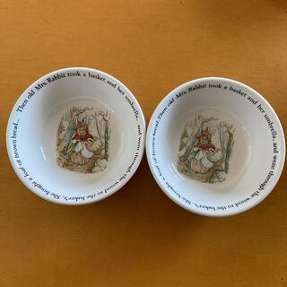 ウェッジウッド(WEDGWOOD)のウェッジウッド ピーターラビット サラダボール2個(食器)