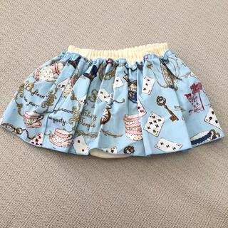 シャーリーテンプル(Shirley Temple)のシャーリーテンプル 70-90cmパンツ付きスカート 新品 訳あり(スカート)