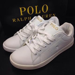POLO RALPH LAUREN - ポロ ラルフローレン シンセティックレザー スニーカー 新品未使用品 23㎝