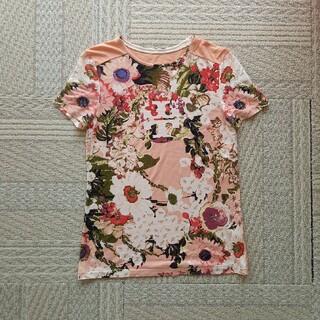 トリーバーチ(Tory Burch)の美品Tory Burch半袖Tシャツ⭐XS花柄ピンク(Tシャツ(半袖/袖なし))
