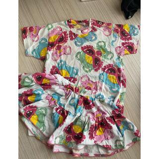 ヒステリックミニ(HYSTERIC MINI)のTシャツ、スカート インパンなし(Tシャツ/カットソー)