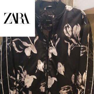 ザラ(ZARA)の【ダーク 花柄薔薇】ZARAブルゾン  LEGENDA studious GDC(ブルゾン)