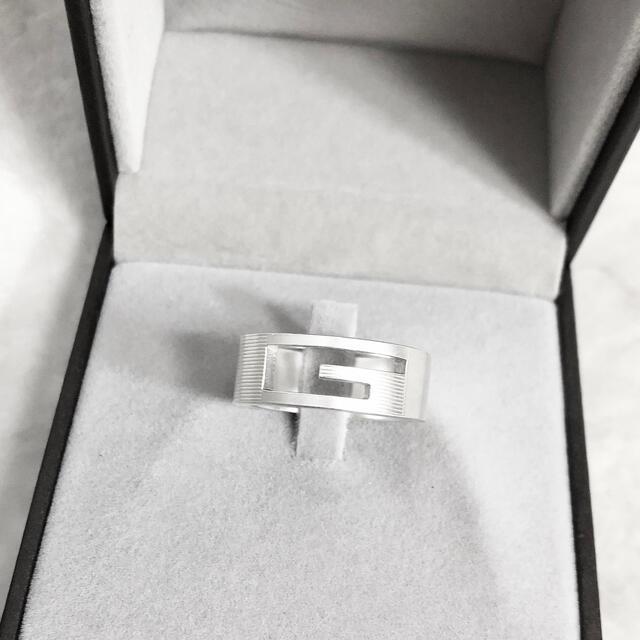 Gucci(グッチ)の正規品 グッチ 指輪 シルバー SV925 メンズ G 銀 ロゴ リング 男 5 メンズのアクセサリー(リング(指輪))の商品写真