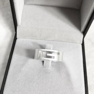 Gucci - 正規品 グッチ 指輪 シルバー SV925 メンズ G 銀 ロゴ リング 男 5