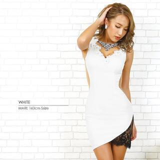 AngelR - エンジェルアール ドレス キャバ Angel R ホワイト ビジュー
