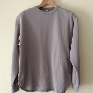 MUJI (無印良品) - 無印良品 インド綿混 ワッフル編み 長袖Tシャツ