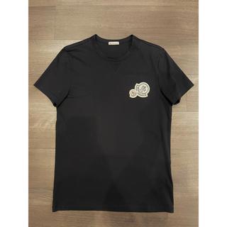 MONCLER - 国内正規品 モンクレール ダブルワッペン Tシャツ ブラック S 黒