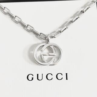 Gucci - 正規品 グッチ ネックレス シルバー SV925 GG インターロッキング 3