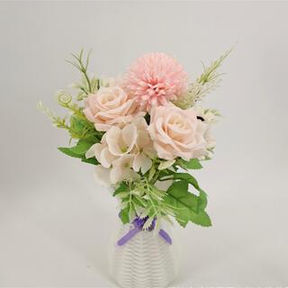 素敵な造花 バラなど インテリア 造花 フェイクグリーン 植物装飾(ドライフラワー)