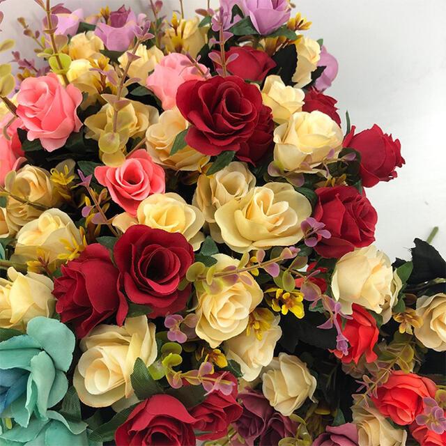 素敵な造花 バラなど インテリア 造花 フェイクグリーン 植物装飾 ハンドメイドのフラワー/ガーデン(ドライフラワー)の商品写真