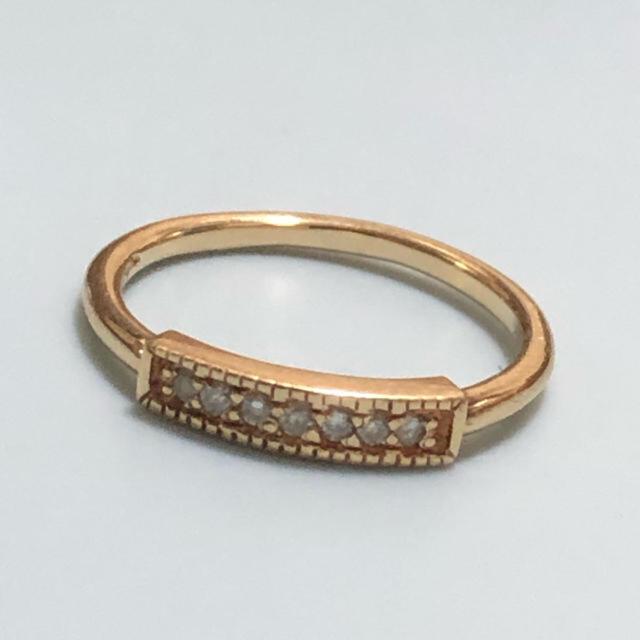 agete(アガット)のagete k10ダイヤモンドリング#9 レディースのアクセサリー(リング(指輪))の商品写真