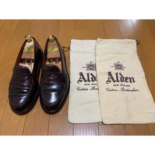 Alden - ALDEN 986 コインローファー  ダークバーガンディー 7C